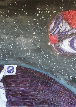 """1 место. Бурняшева Дарья, 14 лет. """"В поисках новых планет"""""""