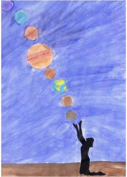 """2 место. Гурко Марианна, 13 лет. """"Парад планет"""""""